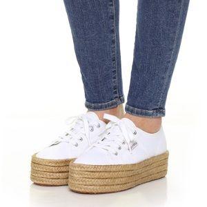White Superga Platform Espadrille Sneakers